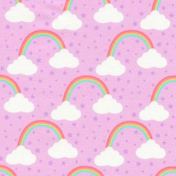 Chasing Rainbows Princess Purple Rainbow Clouds by Robert Kaufman Fabrics 100% Cotton