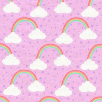 Chasing Rainbows Princess Purple Rainbow Clouds by Robert Kaufman Fabrics 100% Cotton