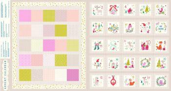 "Advent Calendar Panel 24"" Metallic by Dashwood Studio 100% Cotton"