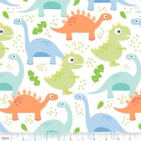 Dino-mite Jurassic White by Blend Fabrics 100% Cotton