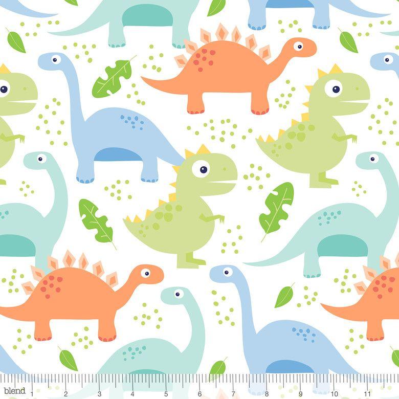 Dino-mite Jurassic White by Blend Fabrics 100% Cotton