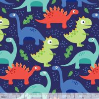 Dino-mite Jurassic Navy by Blend Fabrics 100% Cotton