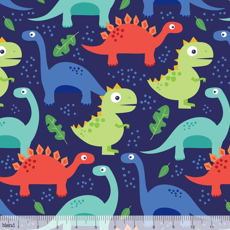 Dino-mite Jurassic Navy by Blend Fabrics 100% Cotton