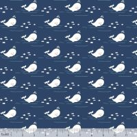 Storytime By The Sea Navy by Blend Fabrics 100% Cotton