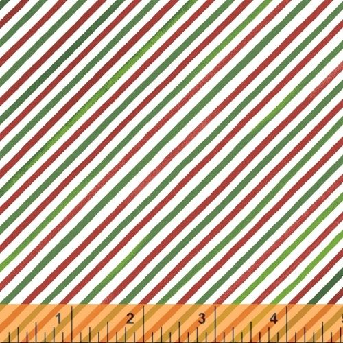 Holly Jolly Christmas Stripe by Windham Fabrics 100% Cotton