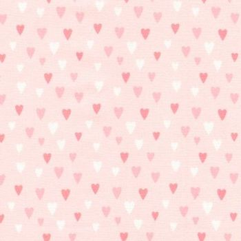 Chasing Rainbows Sweet Pink Hearts by Robert Kaufman Fabrics 100% Cotton