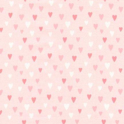 Chasing Rainbows Sweet Pink Hearts by Robert Kaufman Fabrics 100% Cotton