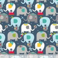 Piccadilly Balancing Act Navy by Blend Fabrics 100% Cotton
