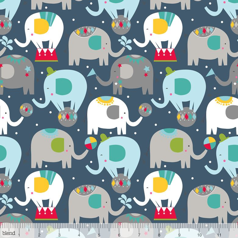 Piccadilly Balancing Act Navy by Blend Fabrics 100% Cotton Long