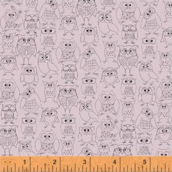 Whoos Hoo Owl Print Pink by Windham Fabrics 100% Cotton