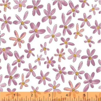 Whoos Hoo Floral Pink by Windham Fabrics 100% Cotton