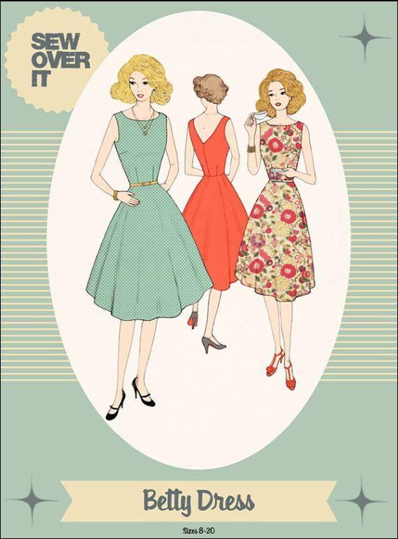 Betty Dress Pattern by Sew Over It