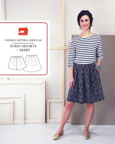 Soho Shorts + Skirt Pattern by Liesl & Co