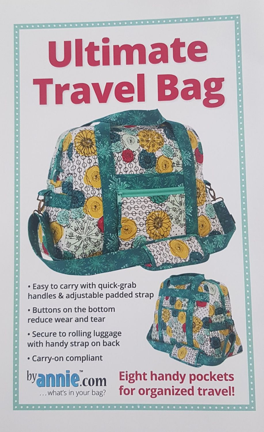 Ultimate Travel Bag Pattern by annie.com