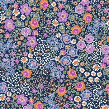 Ace Lawn Bahar Navy Lilac by Dashwood Studio Cotton Lawn Extra Wide