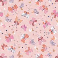Celeste Butterflies Metallic by Dashwood Studio 100% Cotton