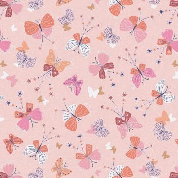 Celeste Butterflies Metallic by Dashwood Studio 100% Cotton