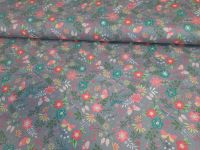 Freya Grey Floral by OjuTie Collection 100% Cotton Extra Wide
