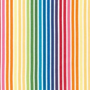 Remix Bright Rainbow Stripe by Robert Kaufman Fabrics 100% Cotton