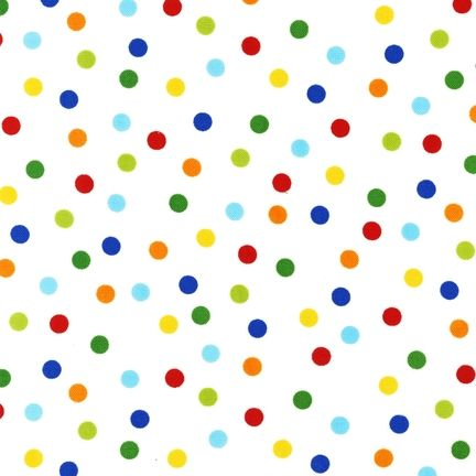 Remix Primary Dots by Robert Kaufman Fabrics 100% Cotton
