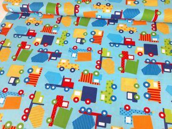 Ready Set Go Primary Cars Trucks by Robert Kaufman Fabrics 100% Cotton