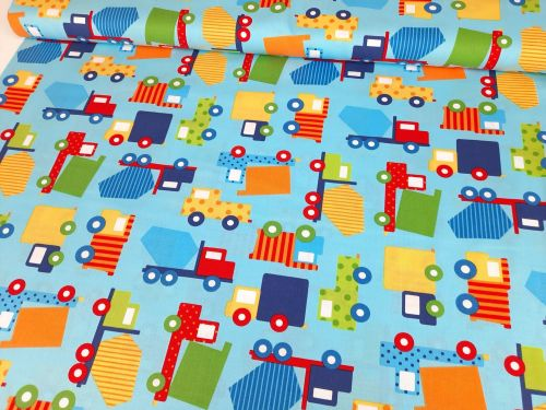 Ready Set Go Primary Cars Trucks by Robert Kaufman Fabrics 100% Cotton