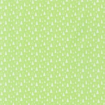 Neighbourhood Pals Green Triangles Trees by Robert Kaufman Fabrics 100% Cotton