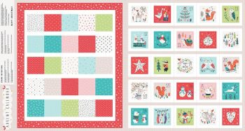 "Advent Calendar Panel 24"" Forest Friends by Dashwood Studio 100% Cotton"