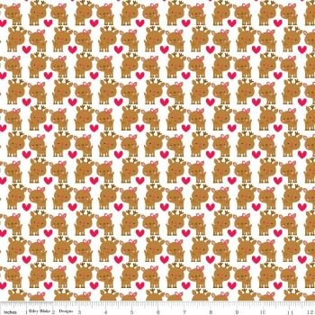 Santa Express Santa Deer Multi by Riley Blake 100% Cotton 34 x 110 cm