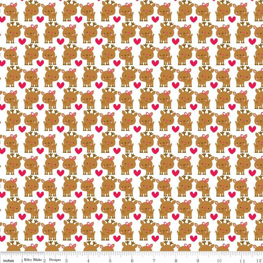 Santa Express Santa Deer Multi by Riley Blake 100% Cotton 34 x 110 cm