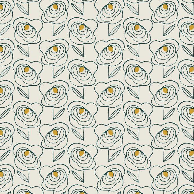 Midnight Garden Flowers Extra Wide Linen Mix by Dashwood Studio