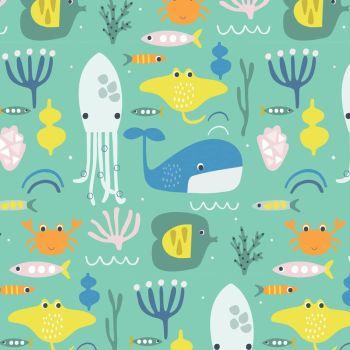 Habitat Ocean Animals by Dashwood Studio 100% Cotton