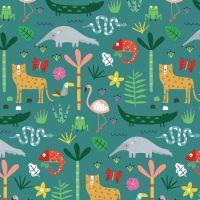 Habitat Jungle Animals by Dashwood Studio 100% Cotton