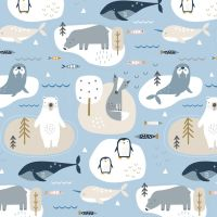 Habitat Artic Animals by Dashwood Studio 100% Cotton