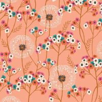 Aviary Dandelions Peach by Dashwood Studio 100% Cotton