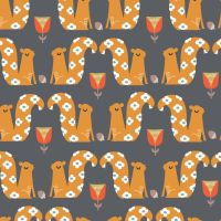 Hibernate Squirrels by Dashwood Studio 100% Cotton