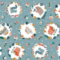 Hibernate Woodland Forest by Dashwood Studio 100% Cotton
