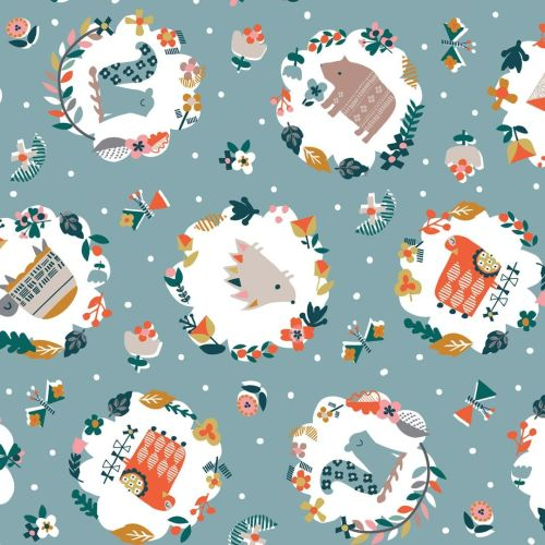 Hibernate Woodland Forest by Dashwood Studio 100% Cotton