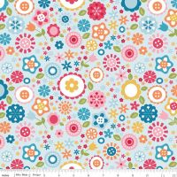 Fine and Dandy Floral Blue by Riley Blake 100% Cotton 46 x 110 cm