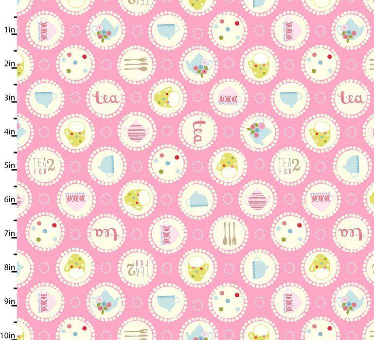 Garden Party Pink by Studio E Fabrics 100% Cotton 22 x 108 cm