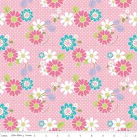 Dream And A Wish Dream Floral Pink by Riley Blake Designs 100% Cotton 36 x 109 cm