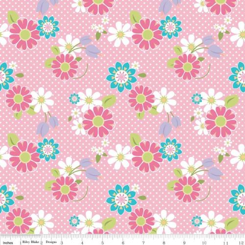 Dream And A Wish Dream Floral Pink by Riley Blake Designs 100% Cotton 36 x