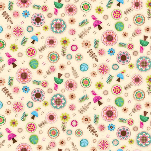 Friendly Forest 4 Jessica Flick Collection by SPX Fabrics 100% Cotton 39 x