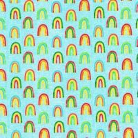 Chilli Smiles Rainbows on Sky by Robert Kaufman Fabrics 100% Cotton