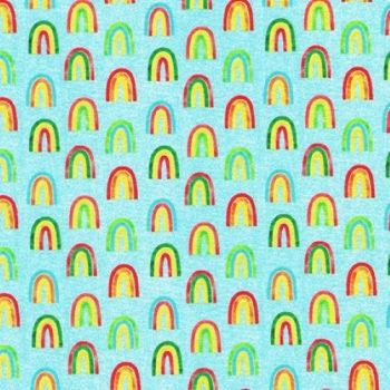 Chilli Smiles Rainbows on Sky by Robert Kaufman Fabrics 100% Cotton