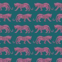 Night Jungle Pink Leopards by Dashwood Studio 100% Cotton