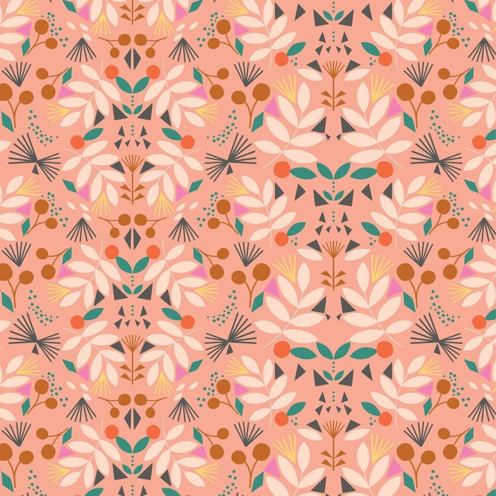 Our Planet Floral on Peach by Dashwood Studio 100% Cotton