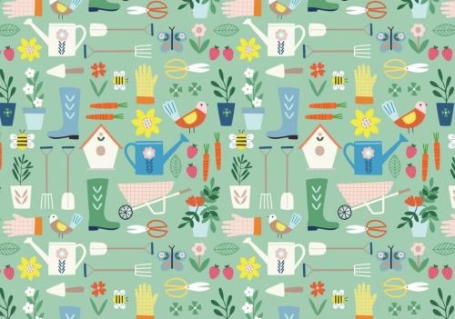 Hobbies Gardening by Dashwood Studio 100% Cotton