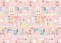 Hobbies Sewing by Dashwood Studio 100% Cotton