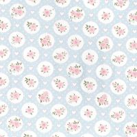 Willow Rose Vintage Floral Blue by John Louden 100% Cotton